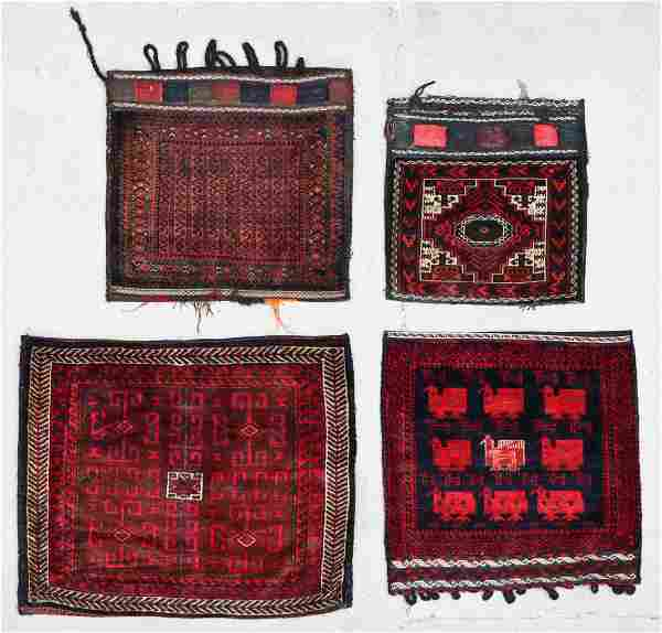 4 Old Afghan Beluch Rugs/Trappings