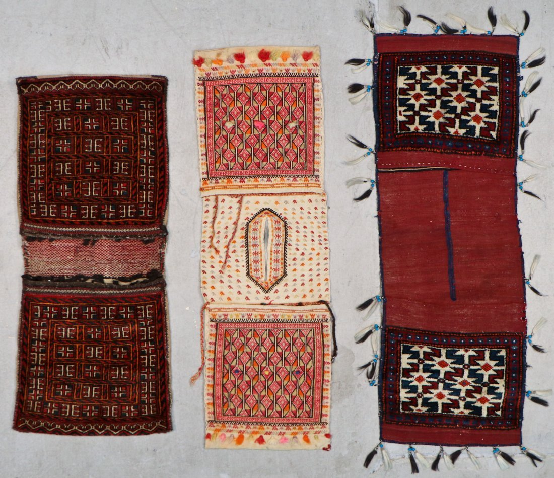 3 Anatolian/Central Asian Saddle Bags, Early 20th C.