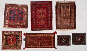 7 Old Turkmen/Persian Small Rugs/Trappings