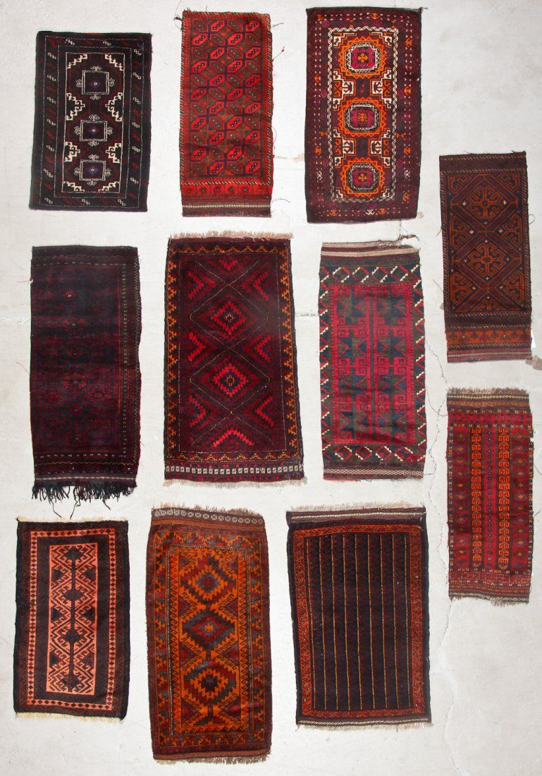 11 Old Afghan Beluch Small Rugs