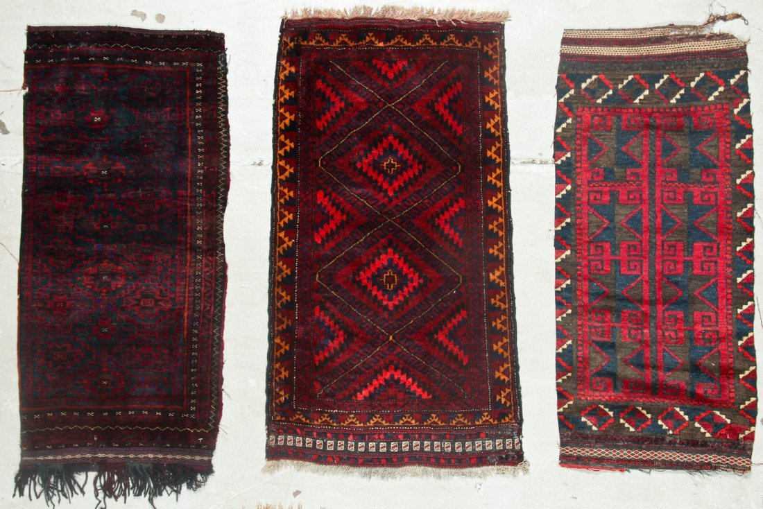 11 Old Afghan Beluch Small Rugs - 3