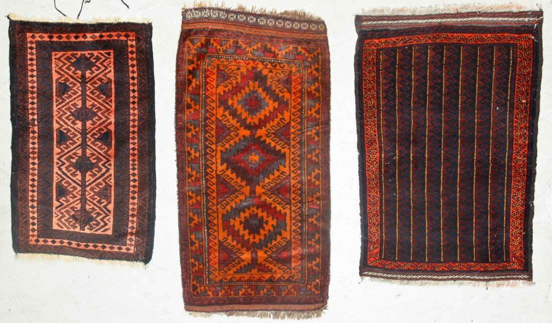 11 Old Afghan Beluch Small Rugs - 4