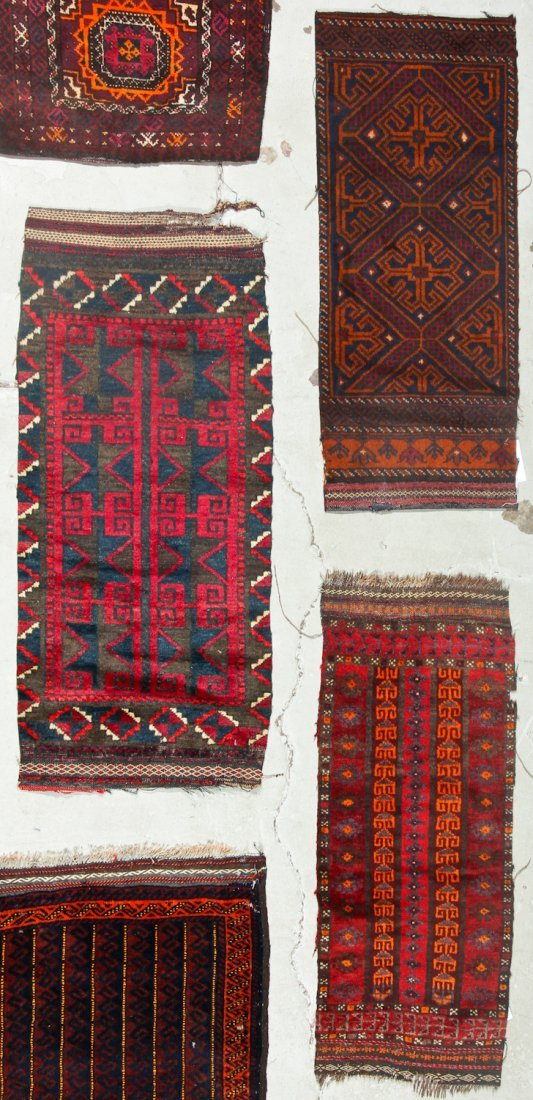 11 Old Afghan Beluch Small Rugs - 5