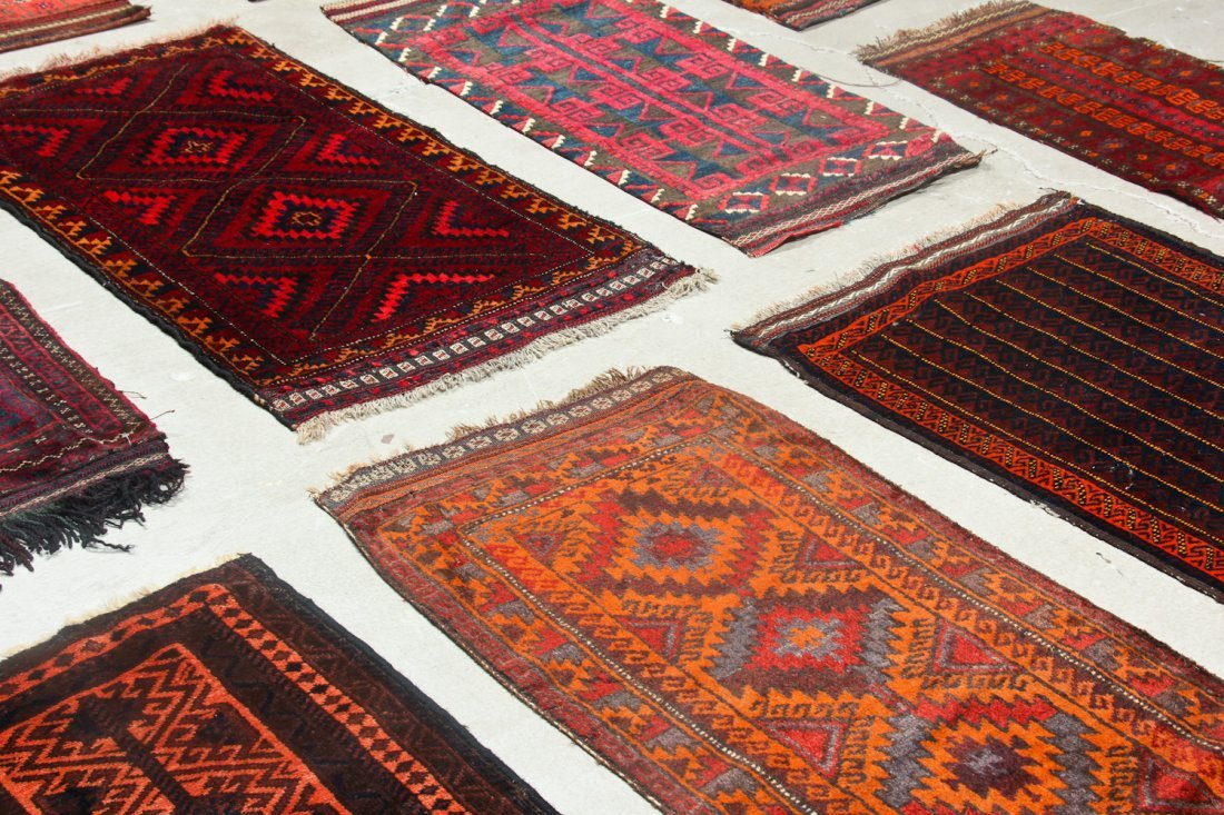 11 Old Afghan Beluch Small Rugs - 7