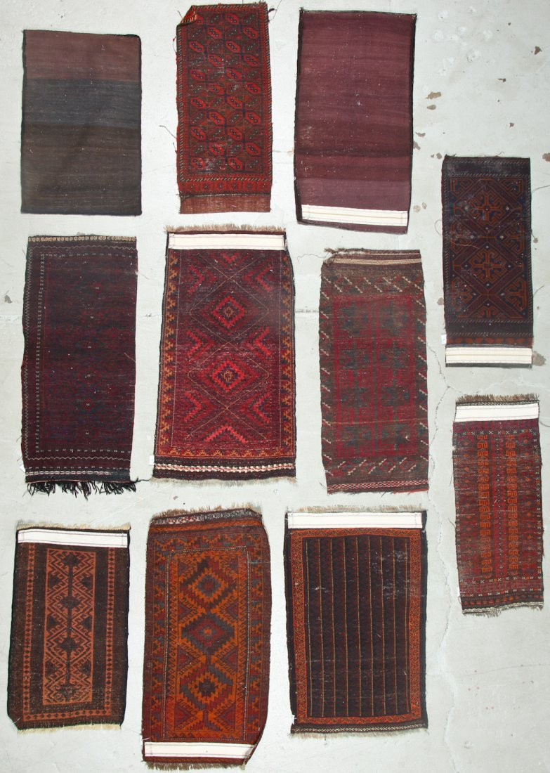 11 Old Afghan Beluch Small Rugs - 8