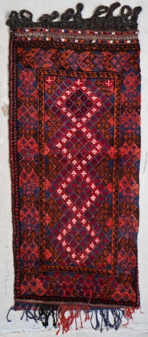 3 Vintage Afghan Mixed Weave Rugs/Trappings - 4