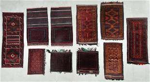 10 Old Afghan Small Rugs & Trappings