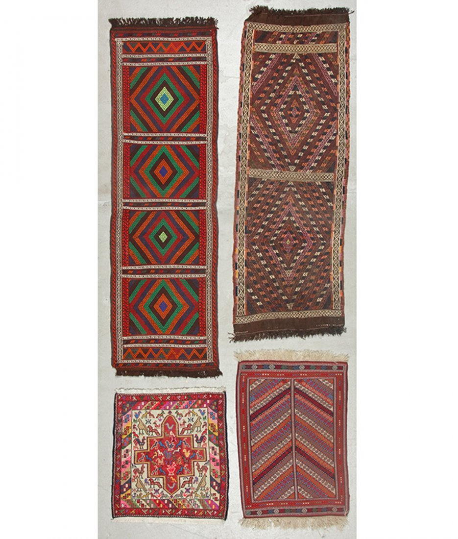 4 Old/Vintage Central Asian/Persian Flat-Weaves