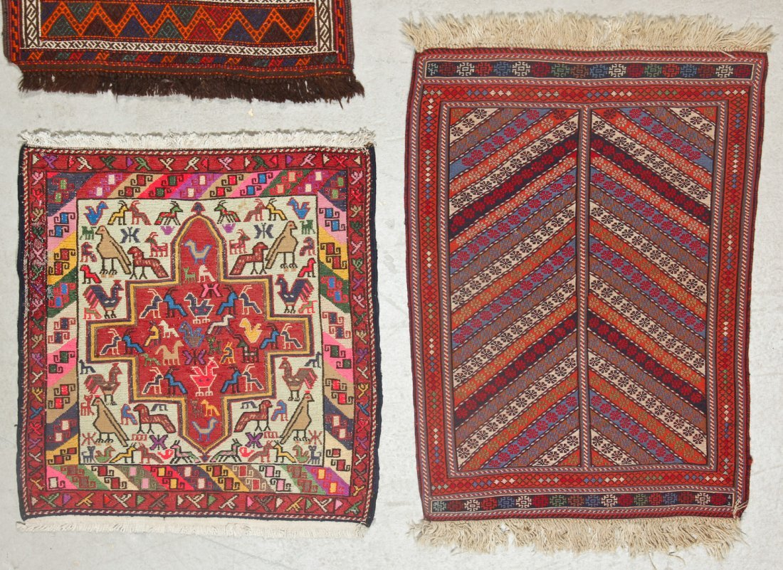 4 Old/Vintage Central Asian/Persian Flat-Weaves - 3