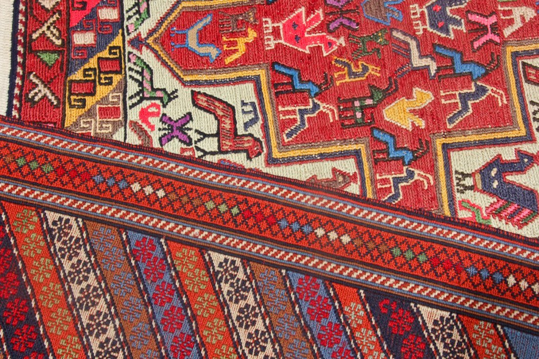 4 Old/Vintage Central Asian/Persian Flat-Weaves - 4