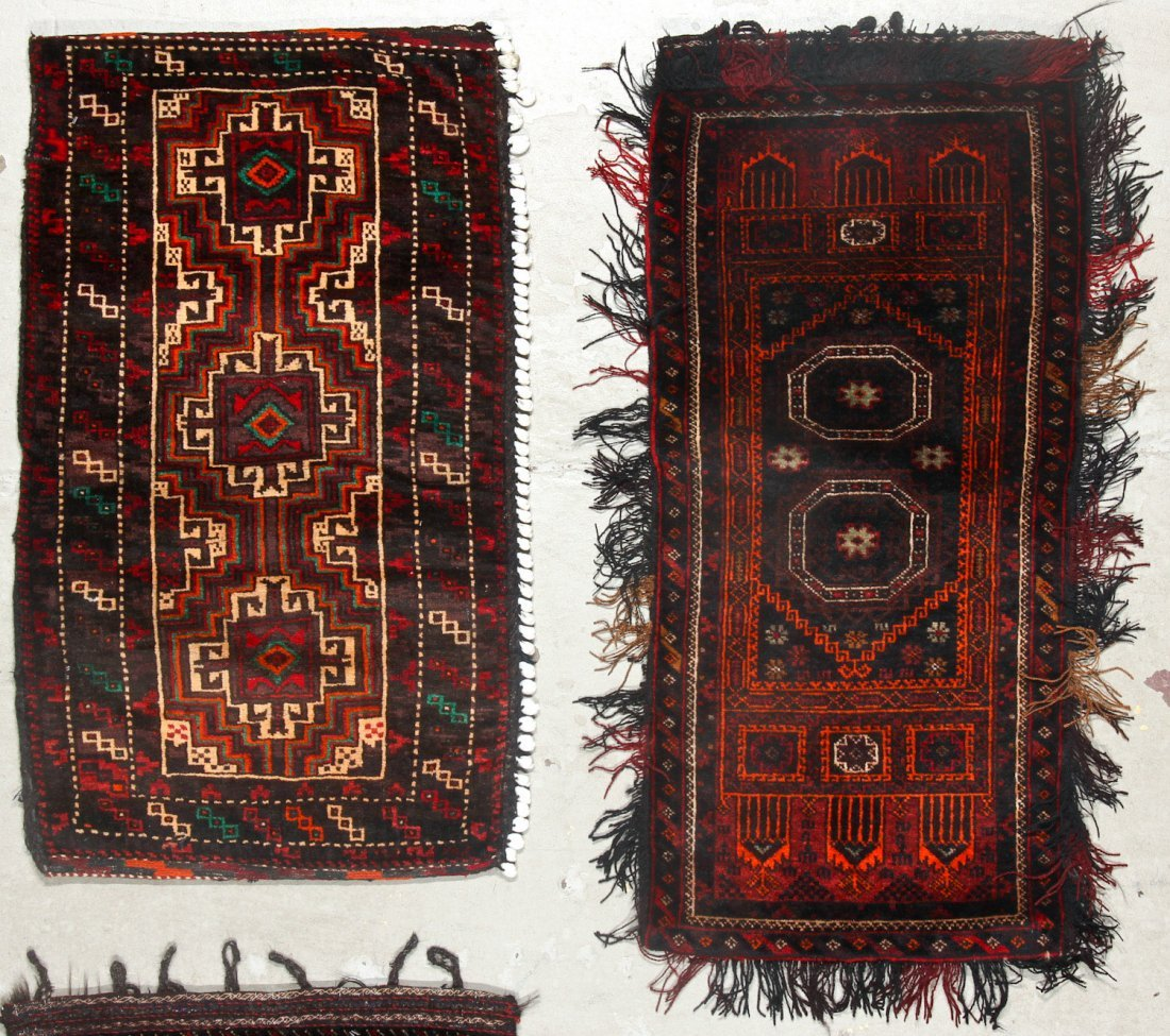 4 Old Afghan Beluch Small Rugs - 2