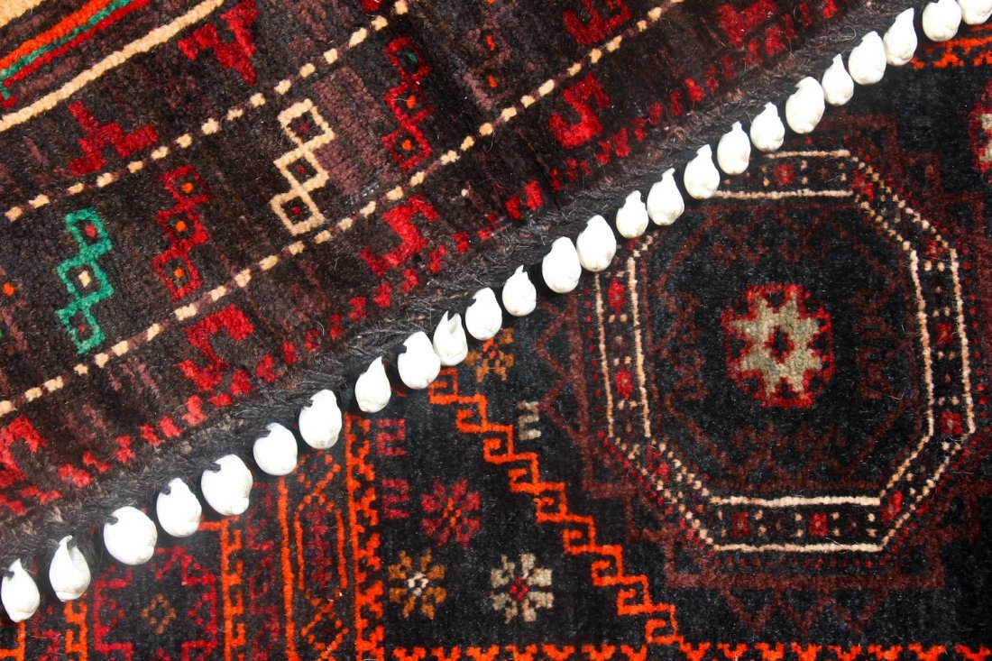 4 Old Afghan Beluch Small Rugs - 5