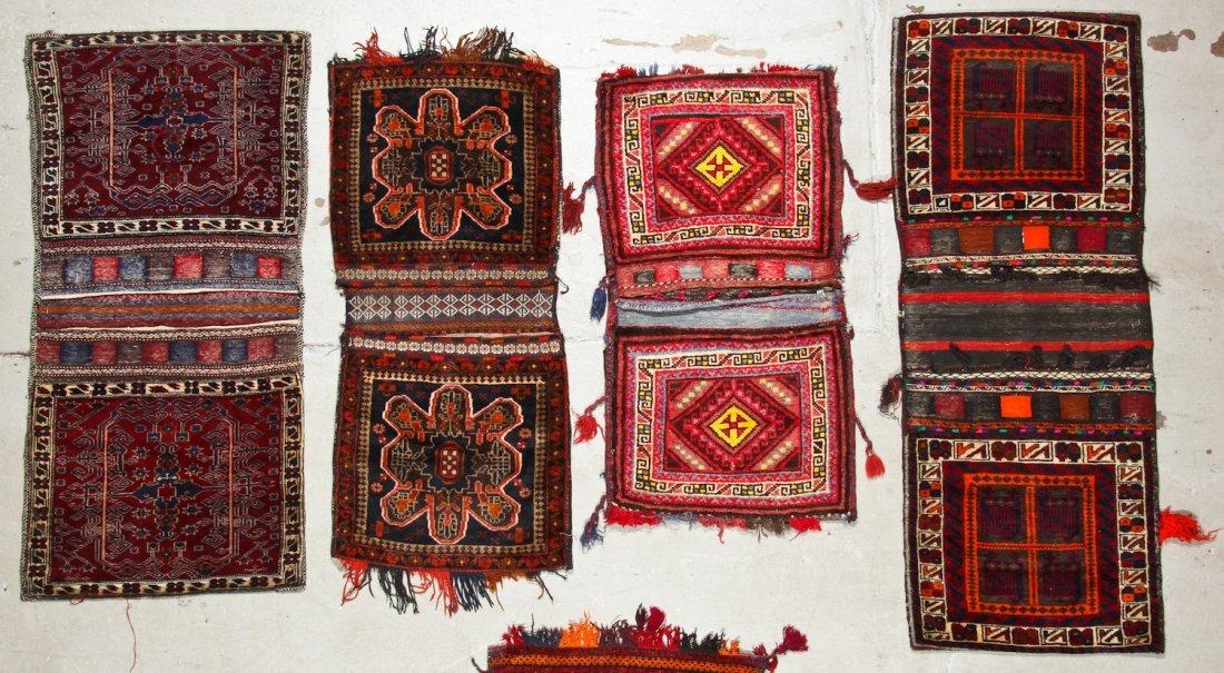 7 Vintage Central Asian/Afghan Double Saddlebags - 2