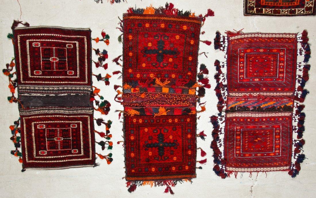 7 Vintage Central Asian/Afghan Double Saddlebags - 3