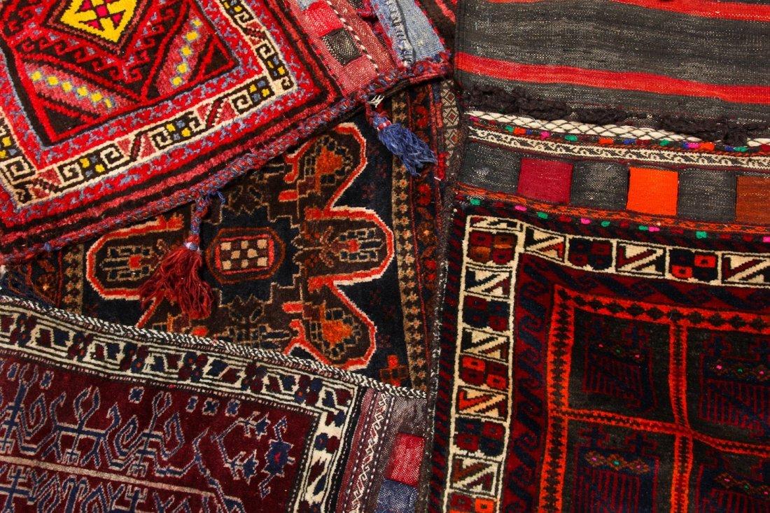 7 Vintage Central Asian/Afghan Double Saddlebags - 4