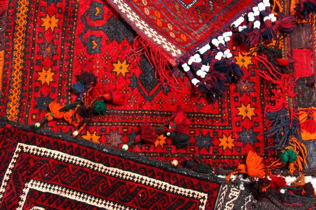 7 Vintage Central Asian/Afghan Double Saddlebags - 5