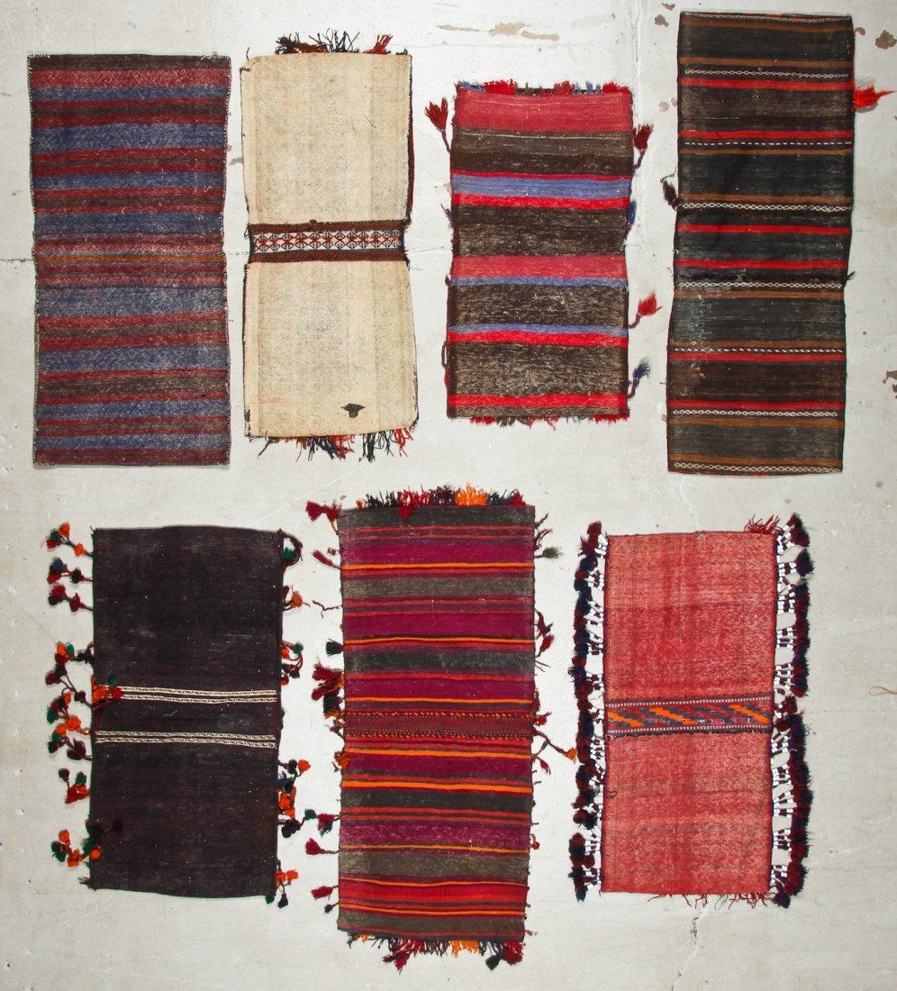 7 Vintage Central Asian/Afghan Double Saddlebags - 6