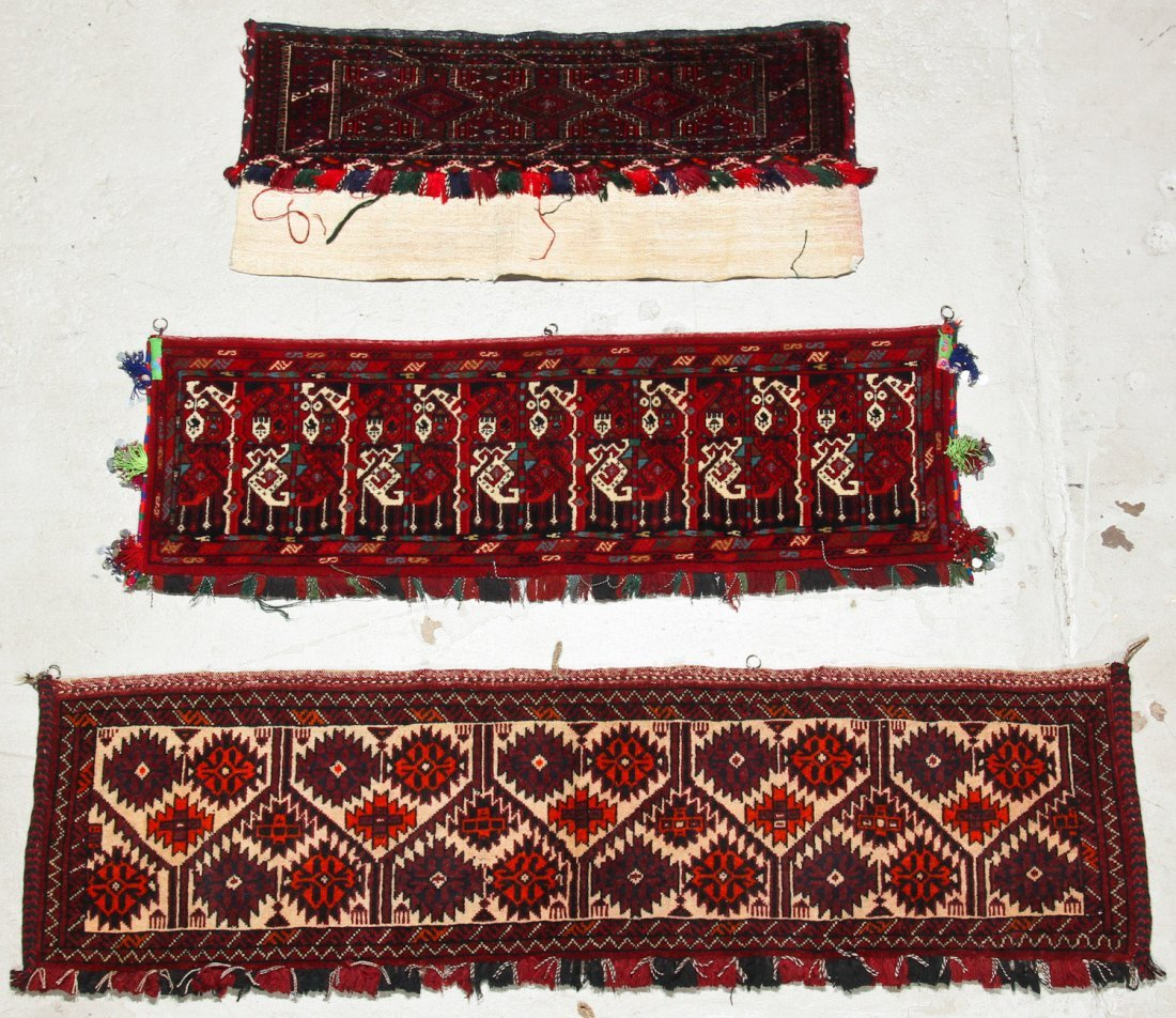 8 Old Central Asian Turkmen Trappings/Rugs - 2
