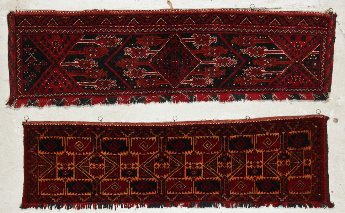 8 Old Central Asian Turkmen Trappings/Rugs - 3