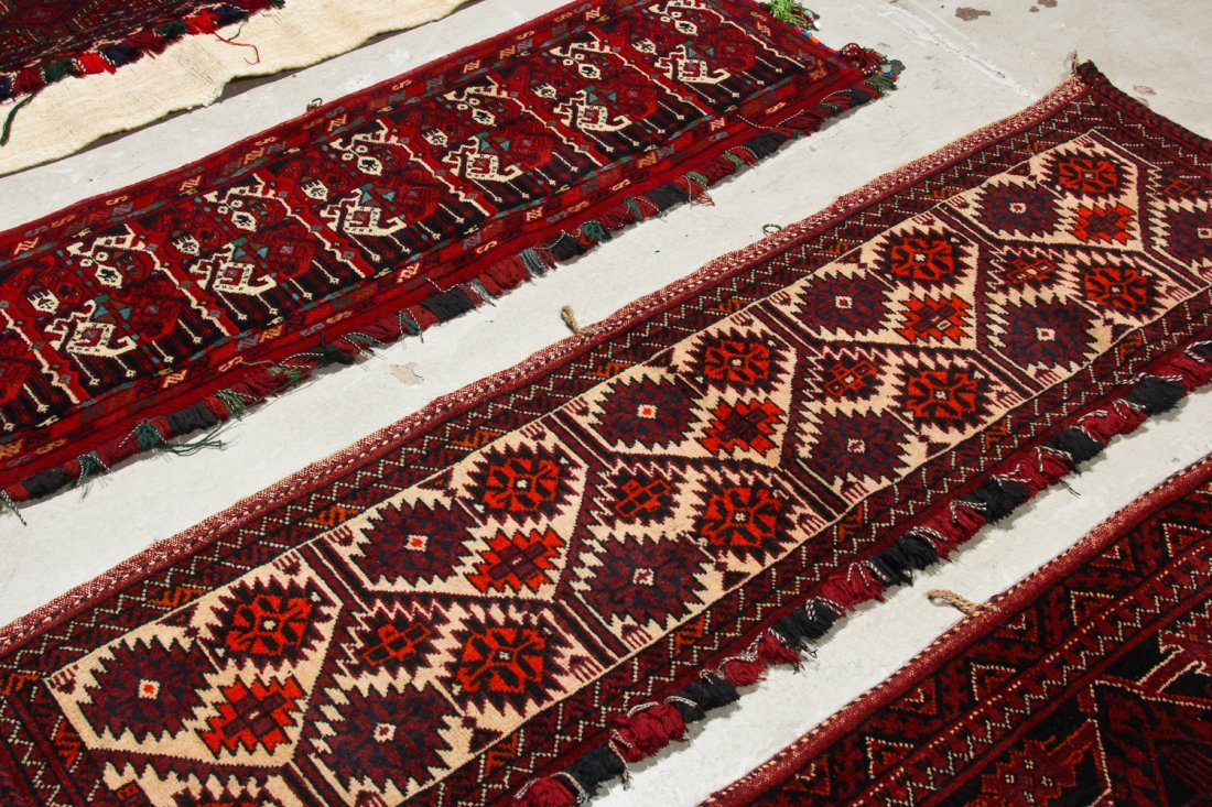 8 Old Central Asian Turkmen Trappings/Rugs - 5