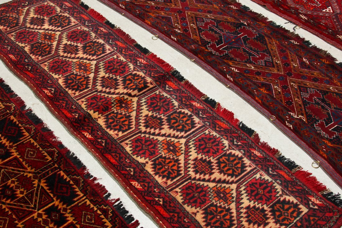 8 Old Central Asian Turkmen Trappings/Rugs - 6