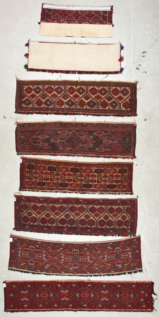 8 Old Central Asian Turkmen Trappings/Rugs - 7