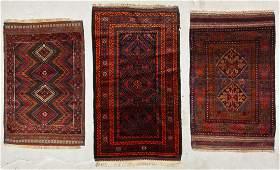 3 Old Afghan Beluch Rugs
