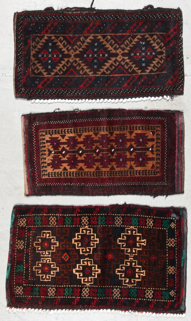 3 Old Afghan Small Rugs