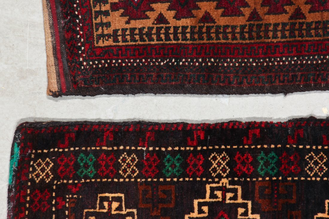 3 Old Afghan Small Rugs - 5