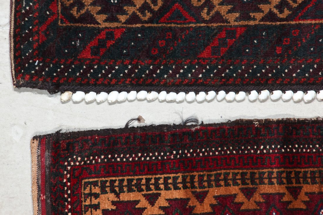 3 Old Afghan Small Rugs - 6