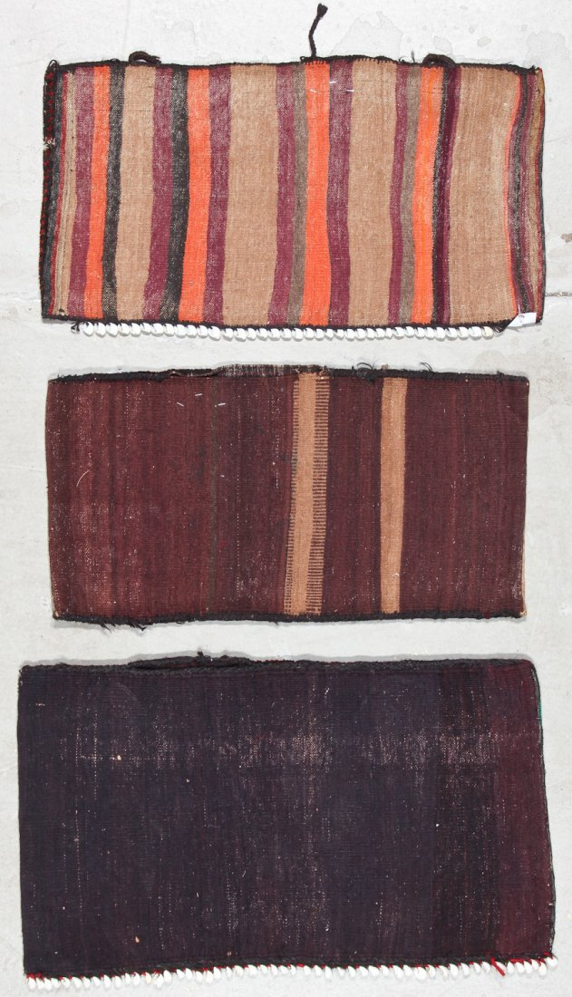 3 Old Afghan Small Rugs - 7