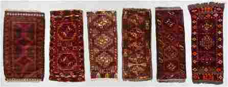 6 Old Central Asian Small Rugs