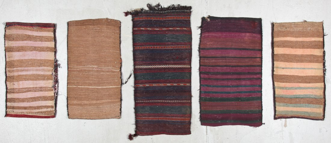 5 Semi-Antique Afghan Beluch Rugs - 8