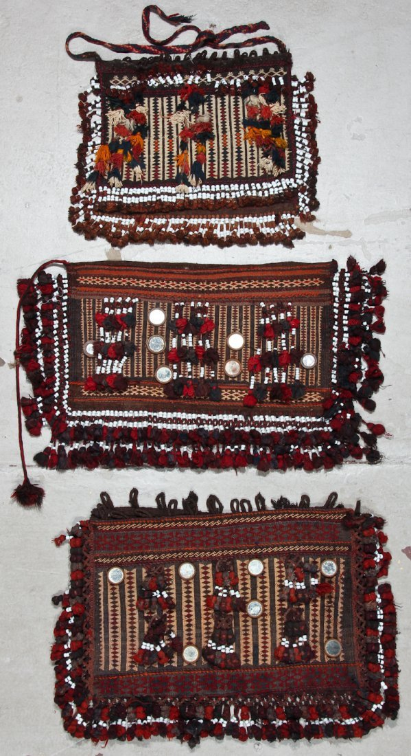 5 Old Afghan Kilim Trappings/Bags - 2