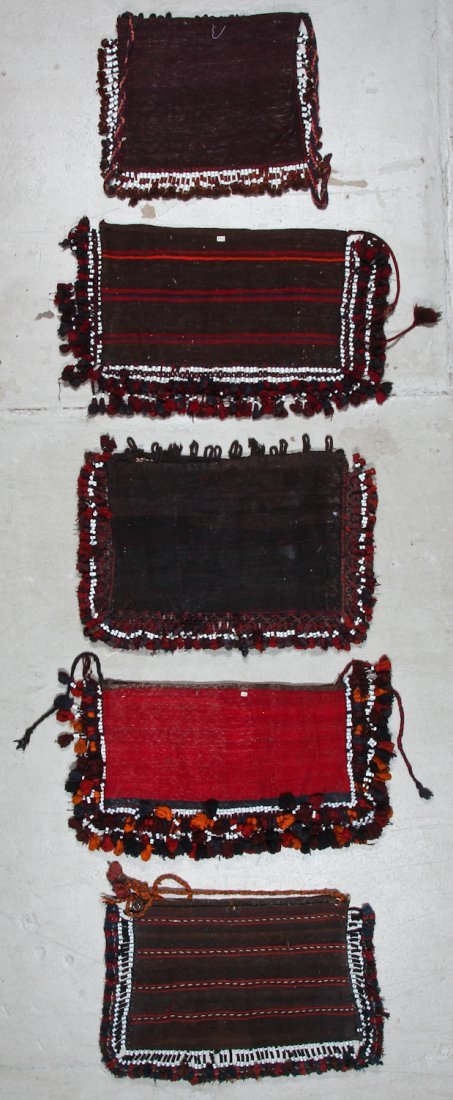 5 Old Afghan Kilim Trappings/Bags - 4