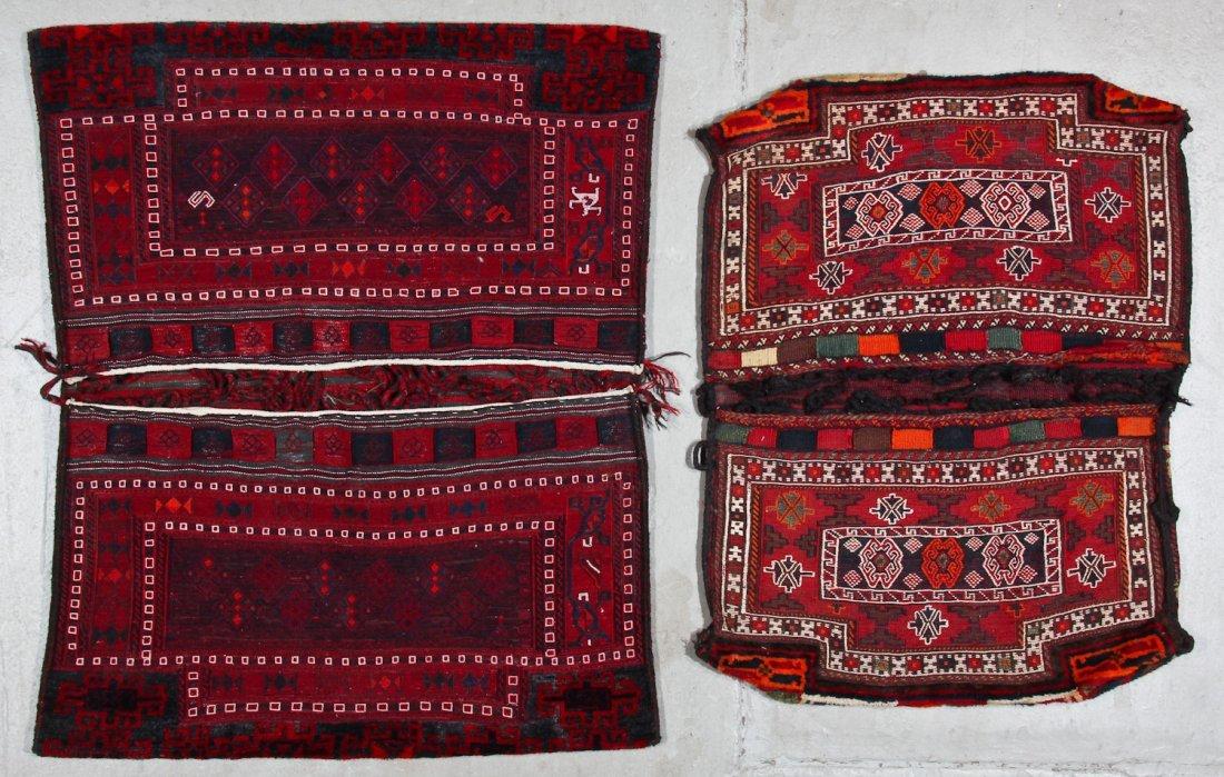 2 Semi-Antique Persian Baktiari Saddle Bags