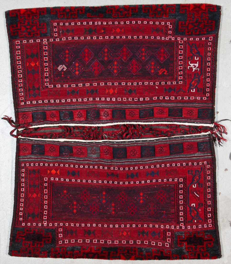 2 Semi-Antique Persian Baktiari Saddle Bags - 2