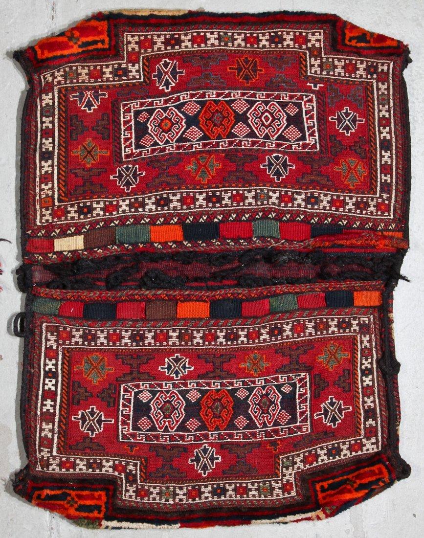 2 Semi-Antique Persian Baktiari Saddle Bags - 3