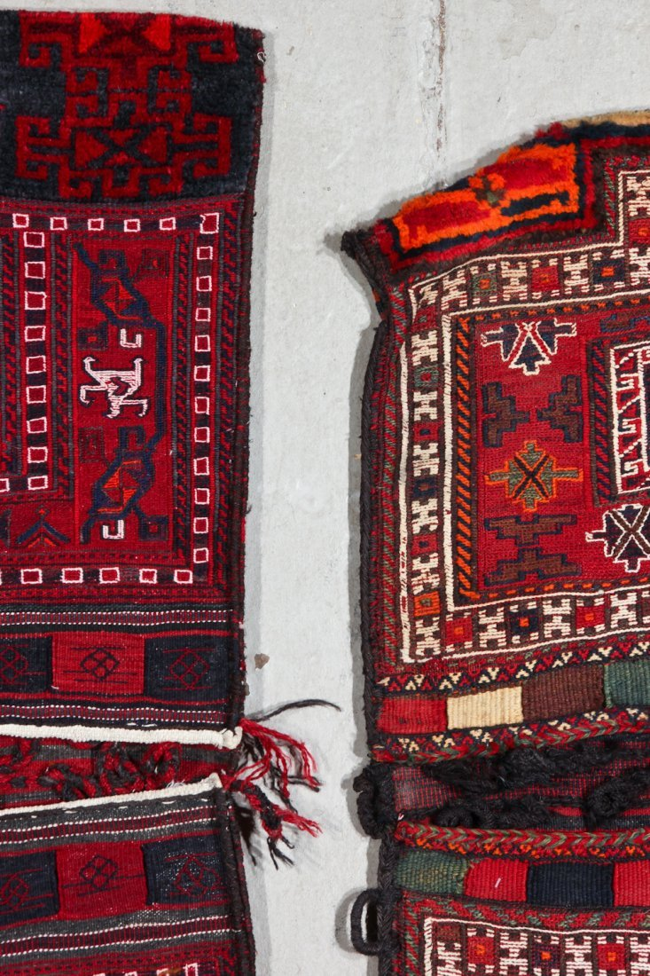 2 Semi-Antique Persian Baktiari Saddle Bags - 4