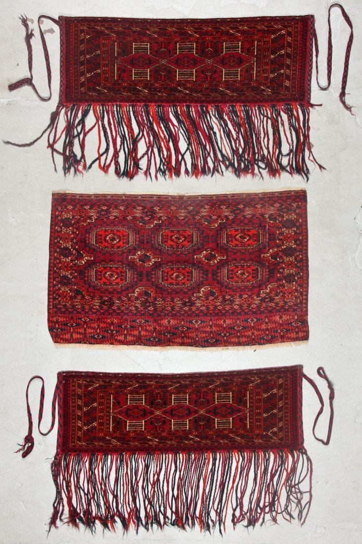 3 Antique Turkmen Trappings