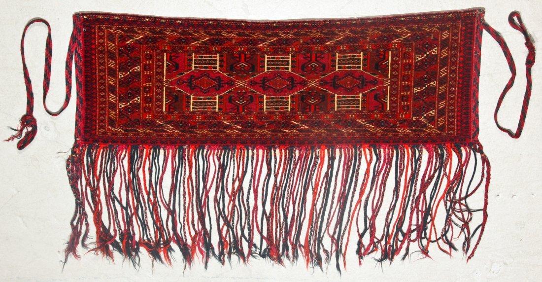 3 Antique Turkmen Trappings - 4