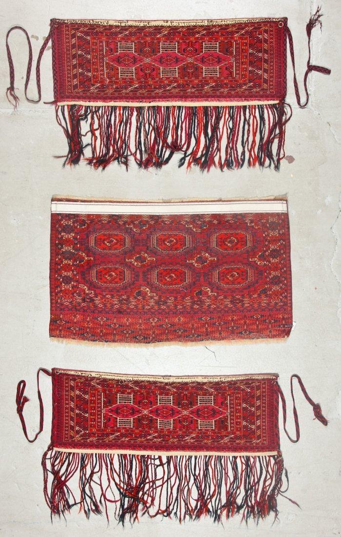 3 Antique Turkmen Trappings - 6