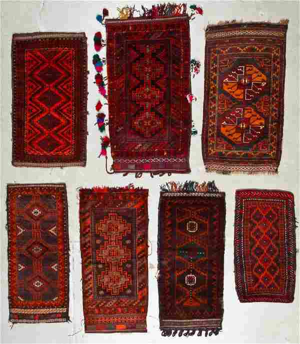 6 Old Afghan Beluch Small Rugs