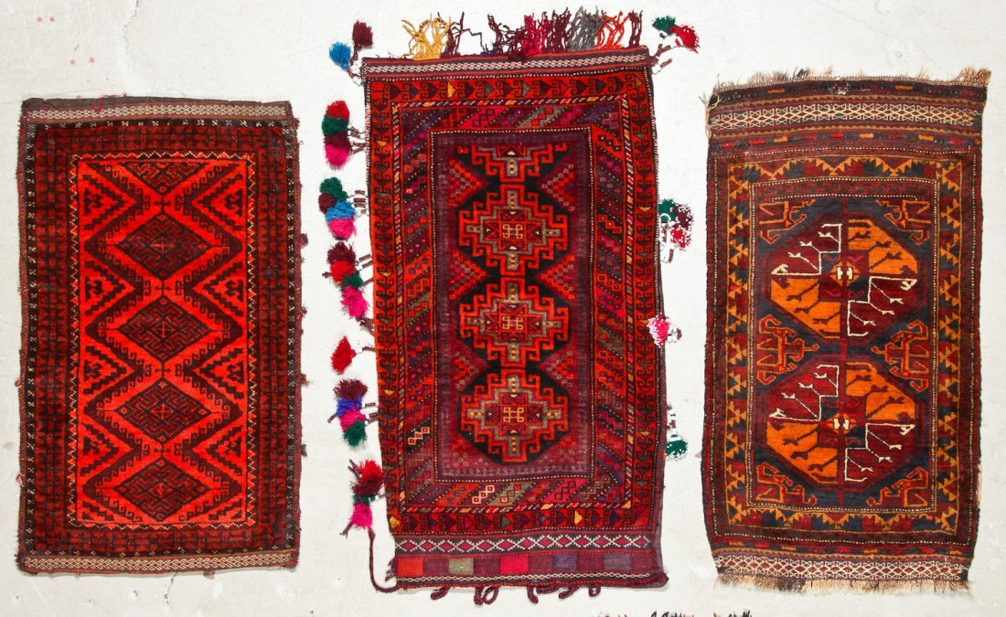 6 Old Afghan Beluch Small Rugs - 2
