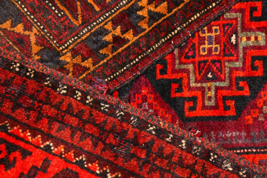 6 Old Afghan Beluch Small Rugs - 3