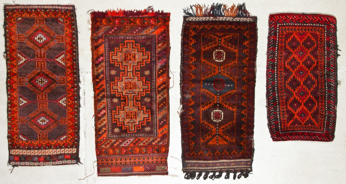 6 Old Afghan Beluch Small Rugs - 4