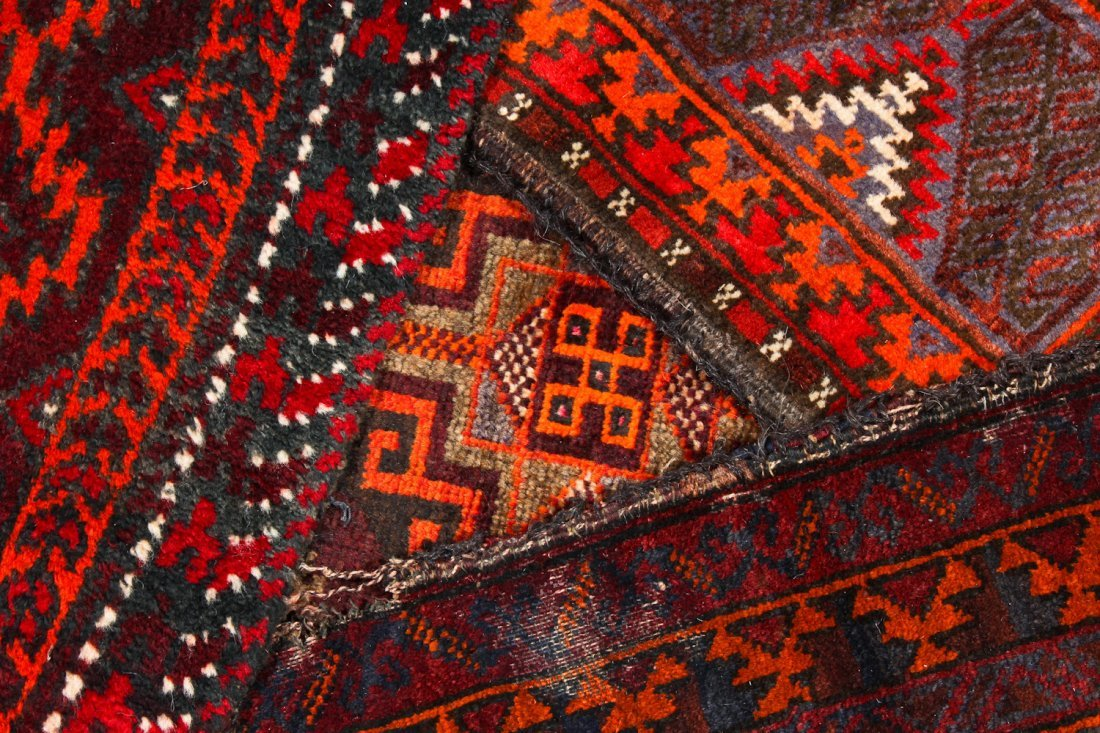 6 Old Afghan Beluch Small Rugs - 5