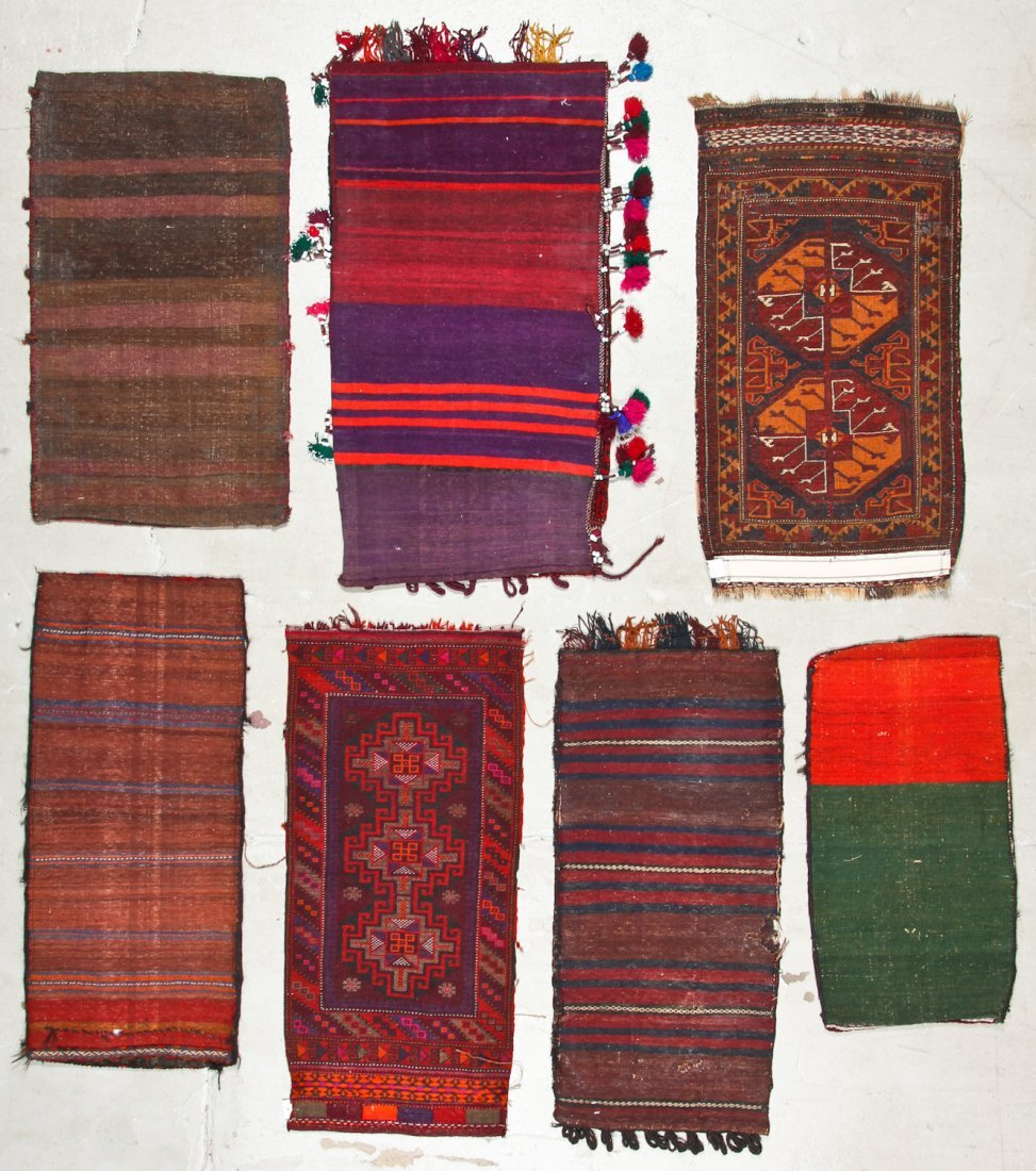 6 Old Afghan Beluch Small Rugs - 6