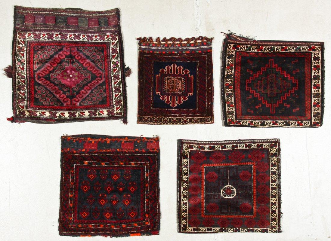 5 Old Afghan Beluch Bagfaces