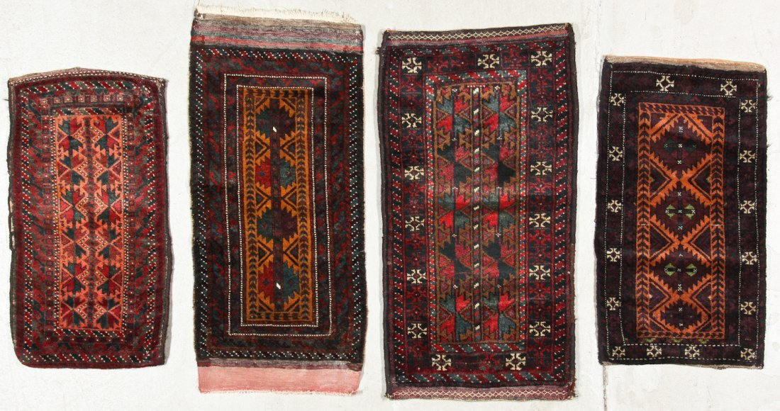 4 Old Beluch Small Rugs/Bags